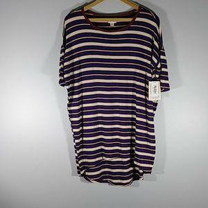 NWT LuLaRoe horizontal striped blouse Sz XXS